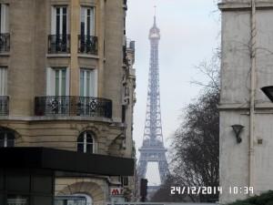 Tour Eiffel vue de l'intérieur de Necker