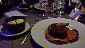 Tournedos de boeuf façon Rossini, butternut rôti, mousseline de pommes de terre