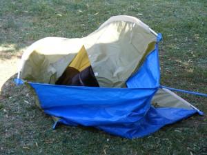 Dalton dans sa tente !