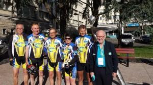 De gauche à droite : Jacky, Hervé, Mino, moi, René, André le Président