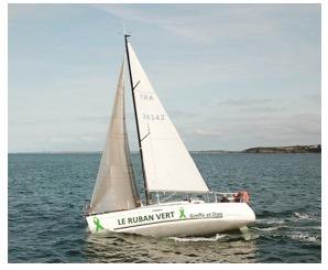 bateau ruban vert