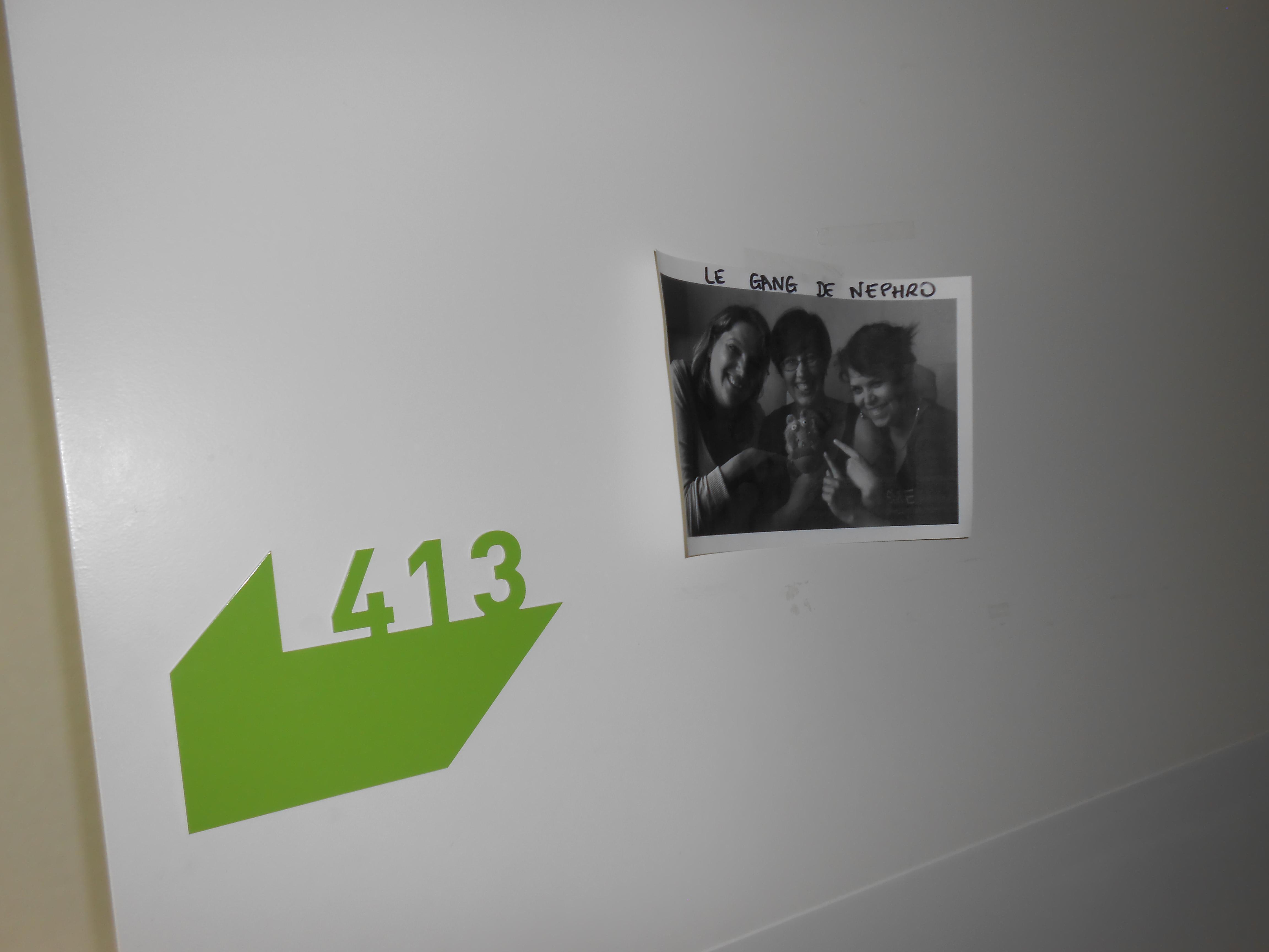 ma porte de chambre au CHU!