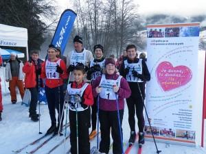 depart ski fond 3km